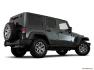 Jeep - Wrangler Unlimited 2016 - Modèle Rubicon 4 portes traction intégrale - Plan latéral arrière (Evox)