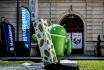 Google offre à Montélimar une statue de Bugdroid