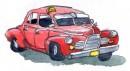 Une vielle américaine rafistolée crache l'essence. Se promener sur un... | 1 mars 2011