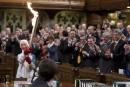 La flamme olympique à la Chambre des communes