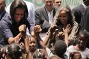 Michelle Obama fait une visite surprise en Haïti