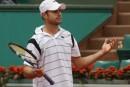 Roland-Garros prend fin pour Andy Roddick