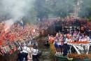Les Oranje acclamés sur les canaux d'Amsterdam