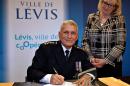 Assermentation du nouveau chef de police de Lévis