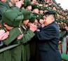 Kim Jong-un a salué chaleureusement les cadets, lors de sa... | 9 février 2012