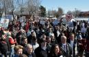 Manifestation contre l'aérodrome à Neuville