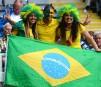 Des partisans brésiliens ont assisté à la victoire de 3-0... | 1 août 2012