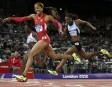 L'Américaine Sanya Richards-Ross a résisté aux assauts de la championne... | 5 août 2012