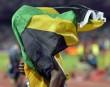 Usain Bolt s?est couvert du drapeau de la Jamaïque après... | 14 août 2012