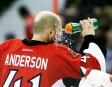 Le gardien numéro un des Sénateurs d'Ottawa, Craig Anderson, se... | 25 décembre 2012