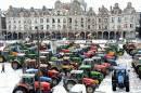 Sur la grande place d'Arras, dans le nord de la... | 16 janvier 2013