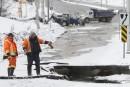 Bris d'aqueduc majeur sur le boulevard de La Vérendrye à... | 3 février 2013