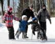 Julianne, Patrick et Justine Arseneault ont patiné avec Zachary Dumaine... | 12 février 2013