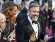 George Clooney et sa compagne Stacy Keibler... | 24 février 2013