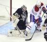Pittsburgh Penguins goaltender Marc-Andre Fleury (29) makes a save against... | 17 avril 2013