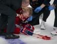 Lars Eller est sorti sur civière après un violent contact... | 2 mai 2013