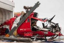 L'épave de l'hélicoptère de la Garde côtière récupérée