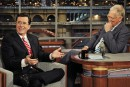 Stephen Colbert chez David Letterman le 22 avril