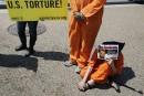 Manifestation devant la Maison-Blanche pour fermer Guantanamo