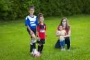 Les enfants et le sport:au soccer quatre fois par semaine