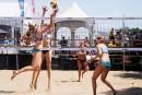 Gestev lorgne le volleyball de plage pour la Baie de Beauport