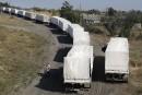 Le convoi d'aide humanitaire russe retourne au bercail
