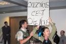 Gaspé: le pdg de Pétrolia accueilli par des manifestants