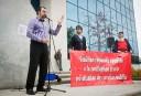 Manifestation contre les travaux de la Commission d'examen sur la fiscalité