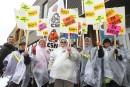 Les éducatrices du CPE Cornemuse en grève générale illimitée