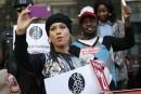 Écolières enlevées: Alicia Keys participe à une manifestation