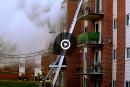 Une femme meurt dans un violent incendie à Québec