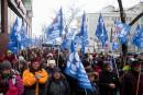 Plus de 300 manifestants en soutien à Radio-Canada