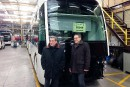 Labeaume et Lehouillier enchantés de leur visite du fabricant de busVanHool