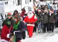 Le père Noël manifeste contre l'austérité