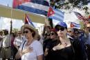 Manifestation contre le dégel entre Cuba et les États-Unis
