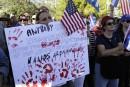 Miami: manifestation contre le dégel diplomatique entre Cuba et les États-Unis