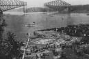 Le pont de Québec en1916