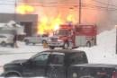 Violent incendie à Daveluyville