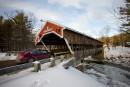Le pont couvert de Jackson, construit en 1876, n'offre qu'une... | 24 février 2015