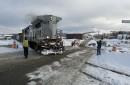 Deux membres du Comité de vigilance ferroviaireclaquent la porte