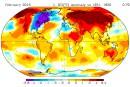 Temps froid: le Québec toujours seul au monde en février