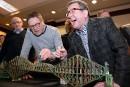 Pont de Québec: Labeaume et Lehouillier donnent un coup de pinceau symbolique