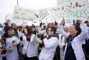 Manifestationcontre les projets de loi en santé
