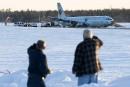 Le BST examine le site de l'atterrissage raté