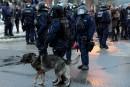 Manifestation silencieuse contre la répression policière à Québec
