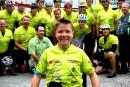 Le sourire de Frédérick sera présent tout au long de son tour cycliste