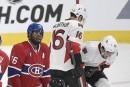 Canadien-Sénateurs: des avertissements aux deux équipes