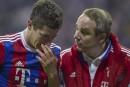 Bayern:Lewandowski s'entraine masqué