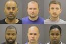 Les six policiers de Baltimore accusés pour la mort de Freddie Gray