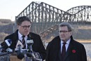 Le pont de Québec sur une liste d'épicerie commune des maires de Québec et de Lévis